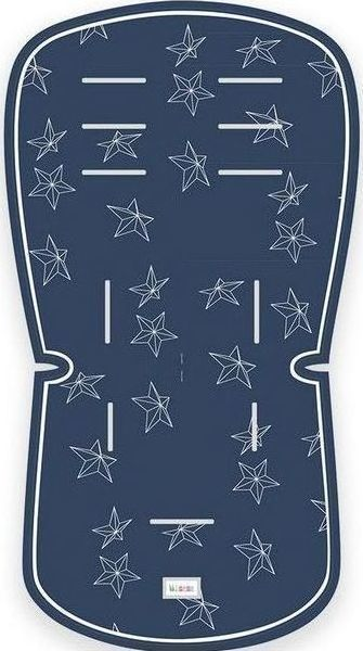 c4a57cc8eab Minene Κάλυμμα Kαροτσιού Πικέ 3d Blue Stars