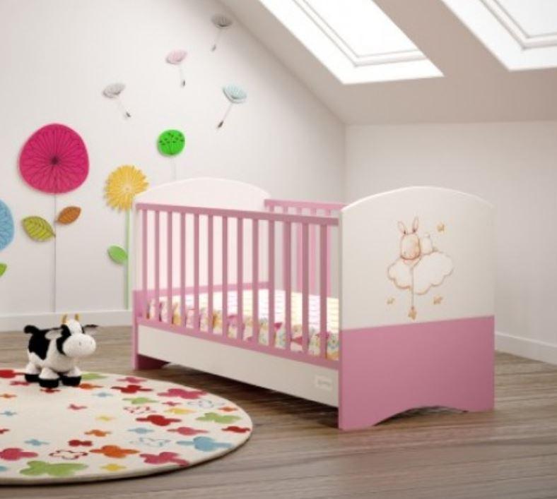 efb316ac2a0 Asterias Βebe Προεφηβικό Κρεβάτι Φένια Λευκό/Ροζ
